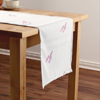love adore kiss short table runner
