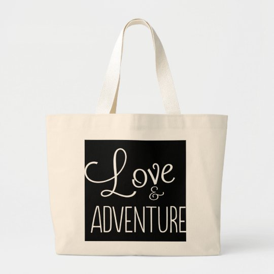 Love & Adventure Large Tote Bag