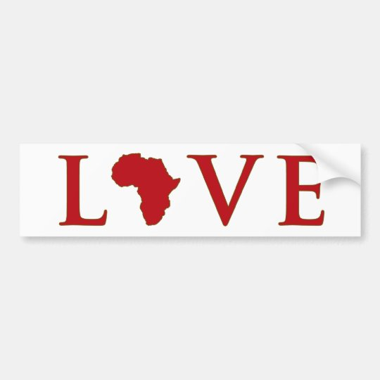 Love Africa Bumper Sticker