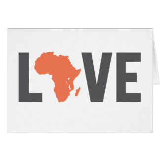 Love Africa Notecards Card