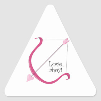 Love Ahoy Triangle Sticker