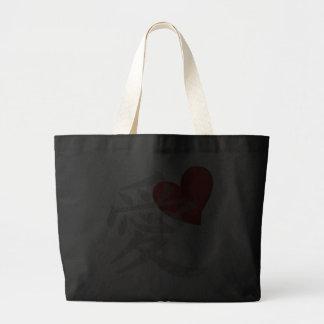 Love/ai in kanji jumbo tote bag