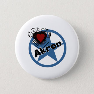 Love Akron 6 Cm Round Badge