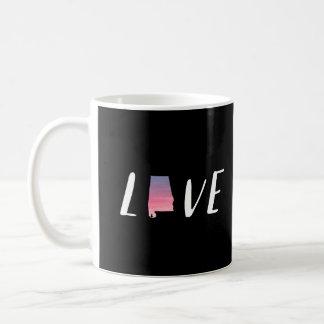 Love Alabama - Sunset on Black Watercolor Mug