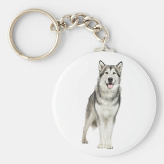Love Alaskan Malamute Puppy Dog Keychain