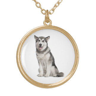 Love Alaskan Malamute Puppy Dog Pendant Necklace