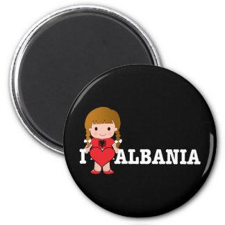 Love Albania Magnet