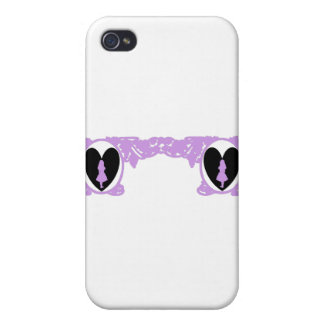 Love Alice Vintage Frame in Lavender Case For The iPhone 4