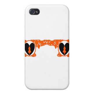 Love Alice Vintage Frame in Orange Covers For iPhone 4