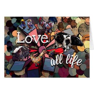 Love all life card