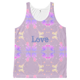 love All-Over print tank top