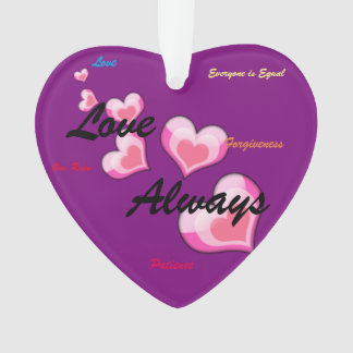 Love Always Trumps Hate Heart Ornament