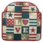 Love America Patriotic Macbook Flap Sleeve