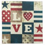 Love America Patriotic Napkin