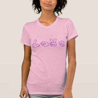 Love American Sign Language Graffiti T-shirts