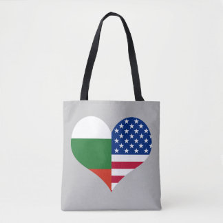 Love American/USA and Bulgarian Flag Tote Bag