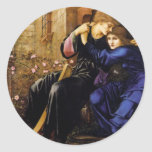Love among the ruins Pre-Raphaelite Art Round Sticker