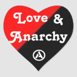 Love & Anarchy heart sticker