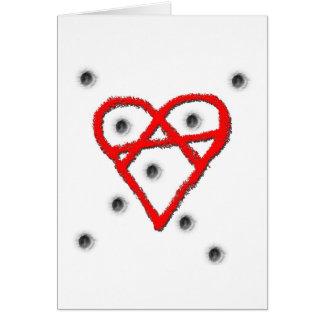 Love Anarchy Symbol Card