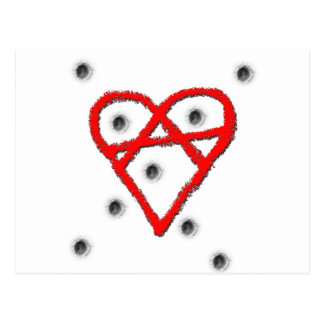 Love Anarchy Symbol Postcard