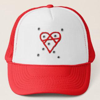 Love Anarchy Symbol Trucker Hat