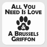 Love And A Brussels Griffon Stickers