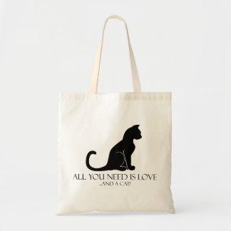 Love And A Cat Tote Bag