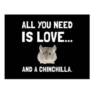 Love And A Chinchilla Postcard