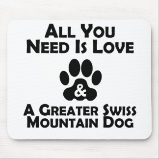 Love And A Greater Swiss Mountain Dog Mouse Pad