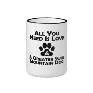 Love And A Greater Swiss Mountain Dog Coffee Mugs