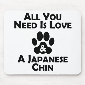 Love And A Japanese Chin Mouse Pads