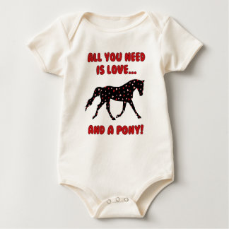 Love and a Pony Baby Bodysuit