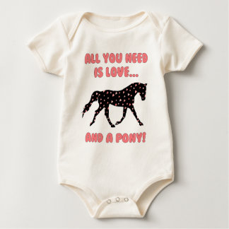 Love And A Pony Baby Bodysuit