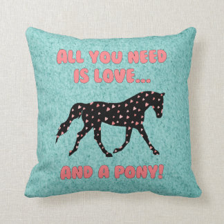 Love and a Pony Cushion