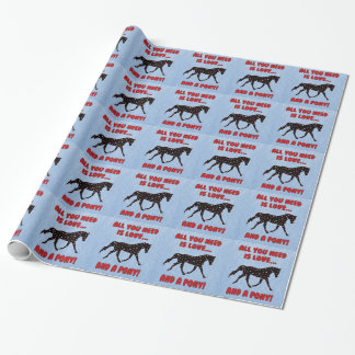 Love and a Pony Wrapping Paper