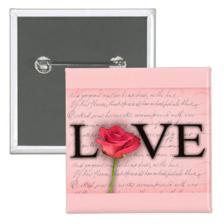 Love and a red rose pin