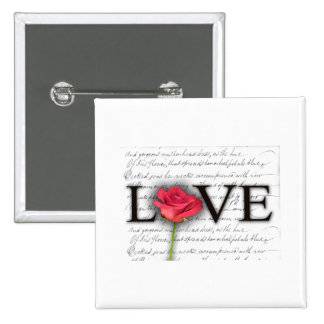 Love and a rose button
