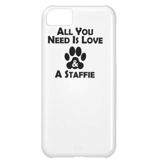 Love And A Staffie Cover For iPhone 5C
