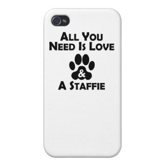 Love And A Staffie iPhone 4/4S Cover