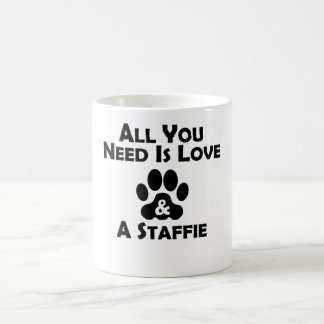 Love And A Staffie Mugs