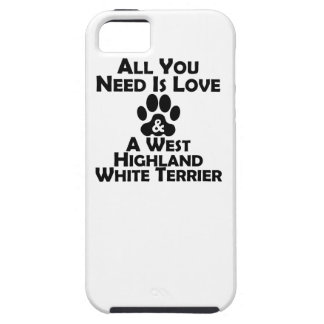 Love And A West Highland White Terrier iPhone 5 Case