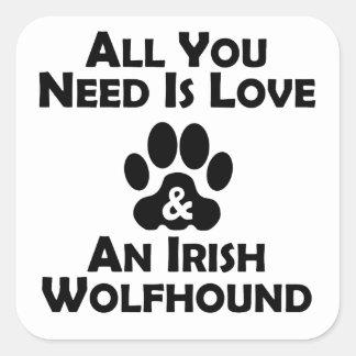 Love And An Irish Wolfhound Stickers