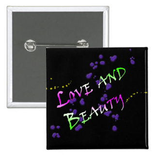 Love and Beauty 15 Cm Square Badge