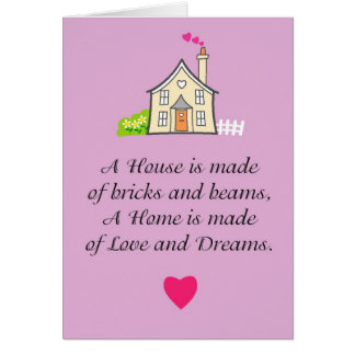 Love and best wishes in your new home greeting card