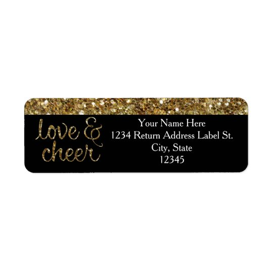 Love and Cheer Glitter Shiny Effect Christmas