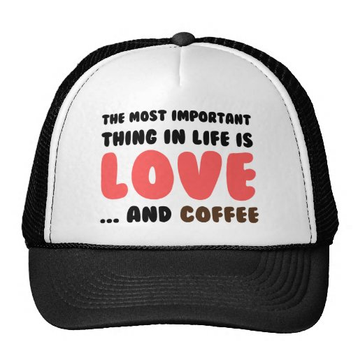 Love and Coffee Trucker Hats