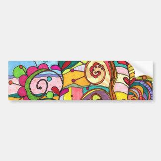 """""""Love and Color"""" Illustration by Paisley In Paris™ Bumper Sticker"""