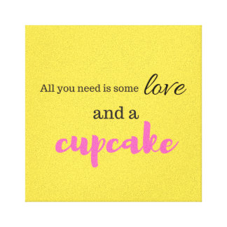 Love and Cupcake Canvas