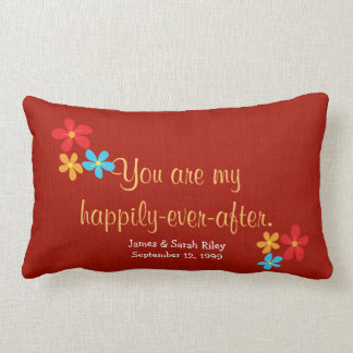 Love and Daisies with quote Throw Cushion