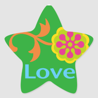 Love and Flowers - Cheery Star Sticker